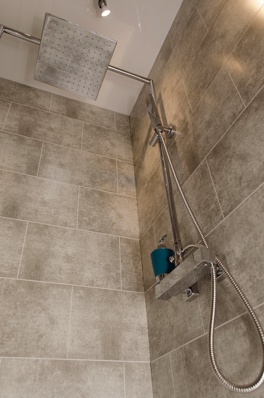 Beige Stone Tile - Bathroom Cladding Direct