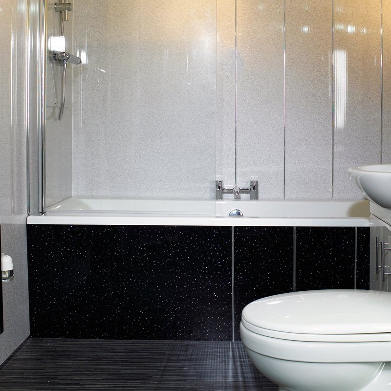 Black Sparkle Bathroom Cladding Direct - White sparkle bathroom cladding