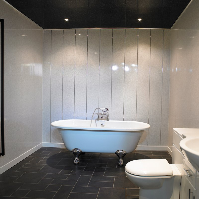White Sparkle Bathroom Cladding Direct
