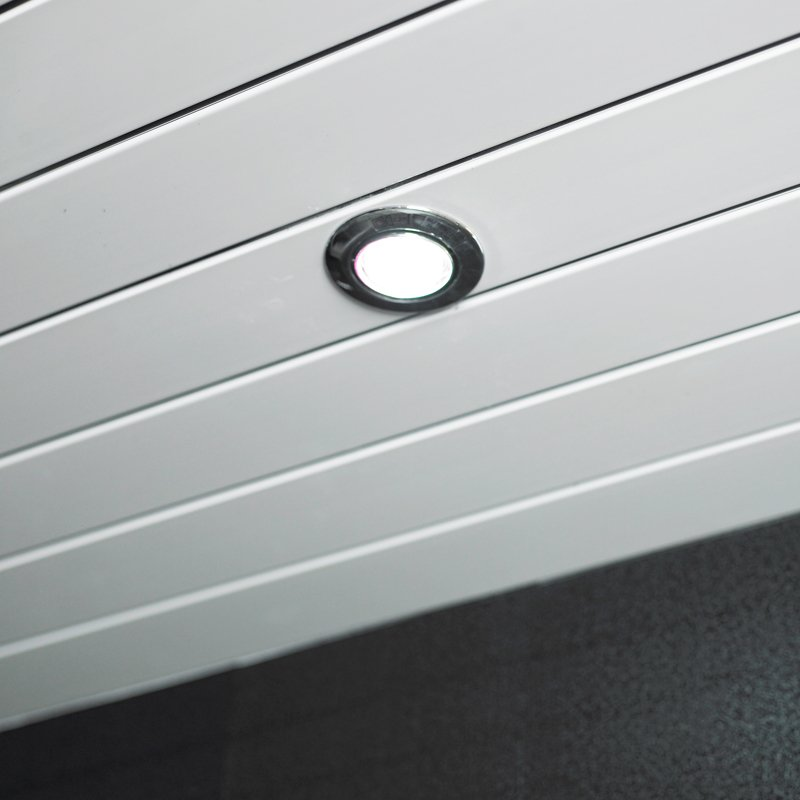 White Ceiling Cladding Grooved