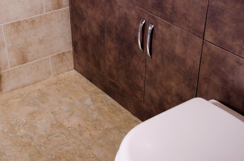 Beige Slate Flooring - Bathroom Cladding Direct