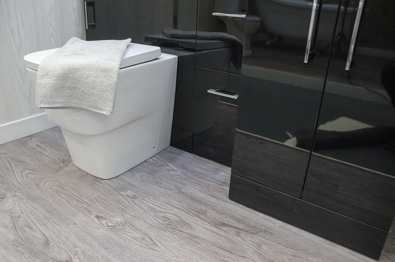 Grey Wood Flooring Bathroom Cladding Direct
