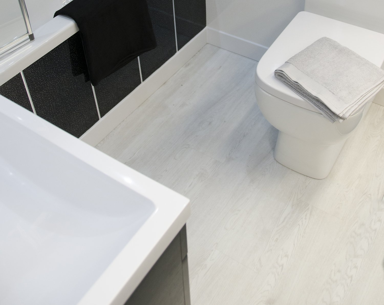 White Wood Flooring Bathroom Cladding Direct