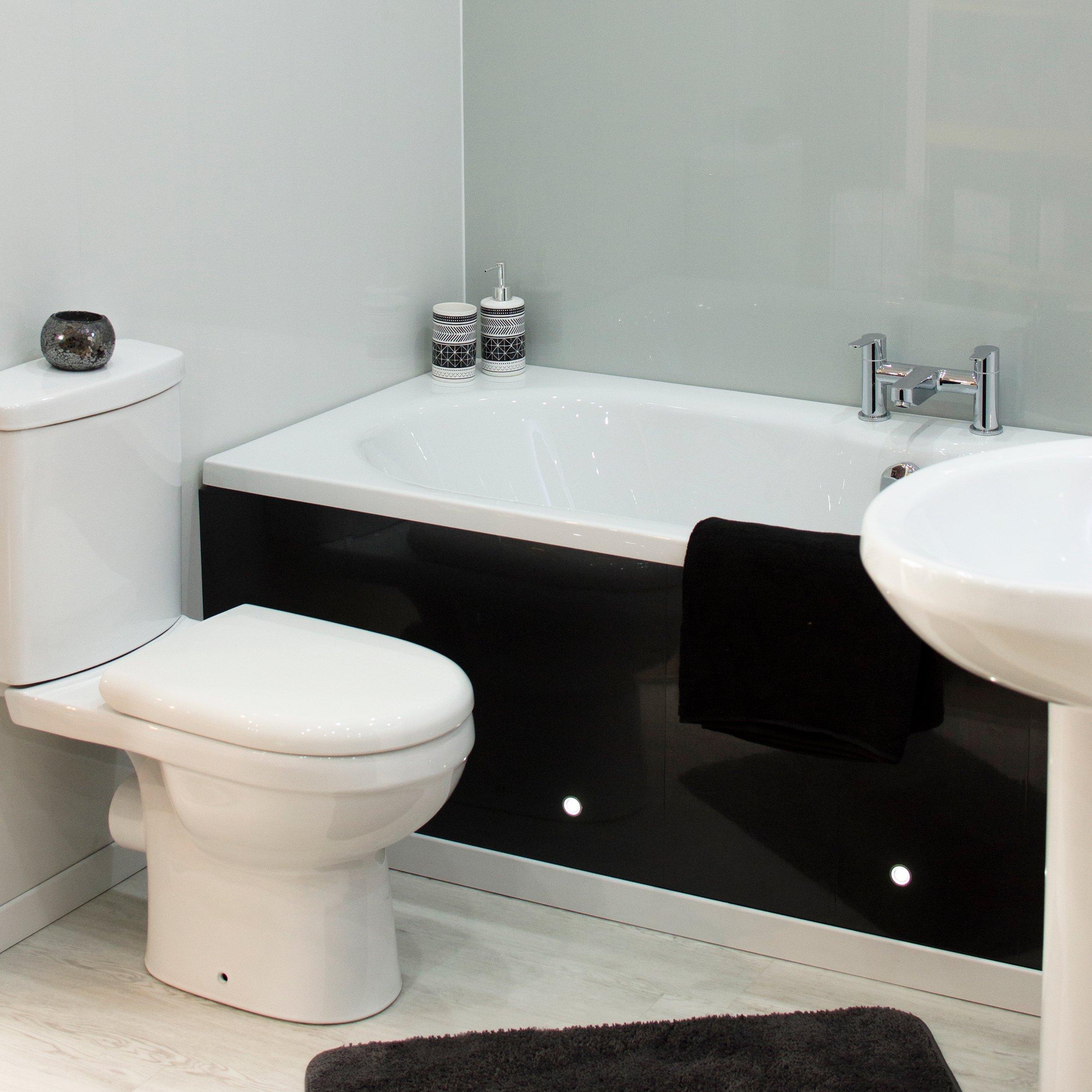 Black gemstone bathroom cladding direct for Bathroom cladding sunderland