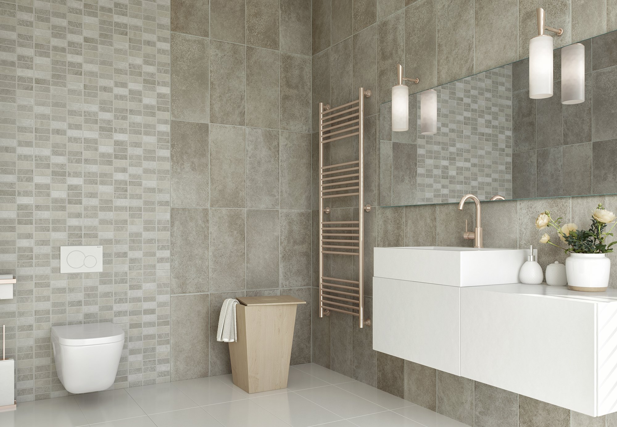 Marmo Marble Mosaic Bathroom Cladding Direct