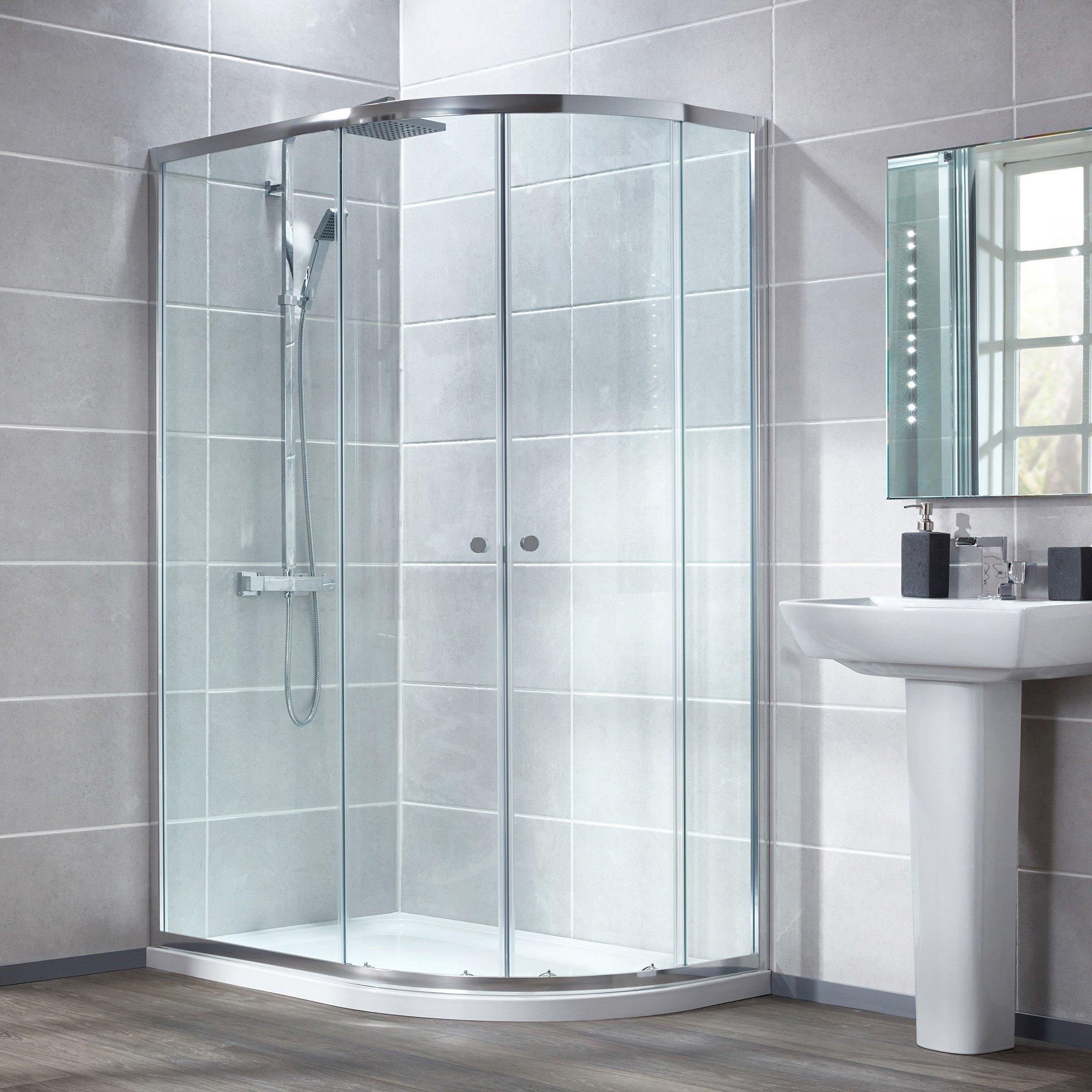 Fine Aqua Glass Shower Door Parts Adornment Bathtub