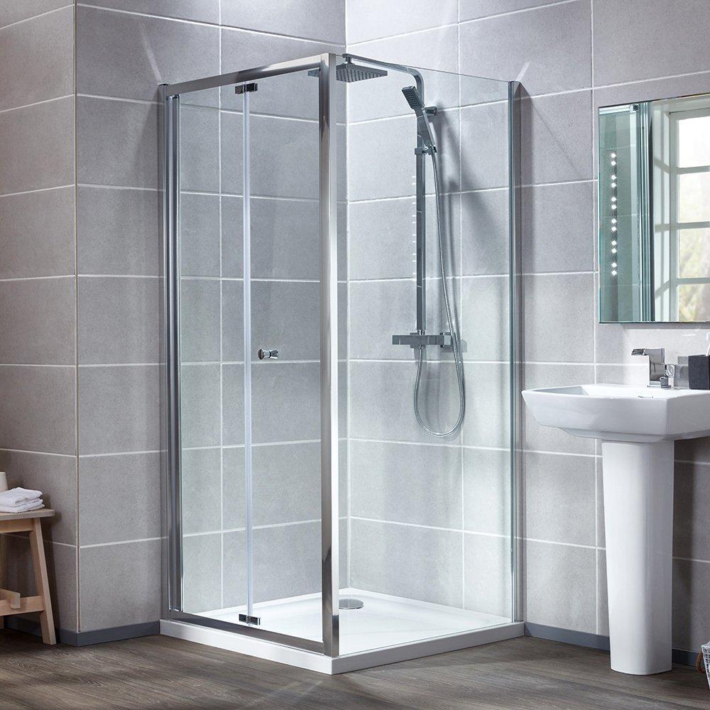 Bi-Fold Door & Shower Tray - Bathroom Cladding Direct