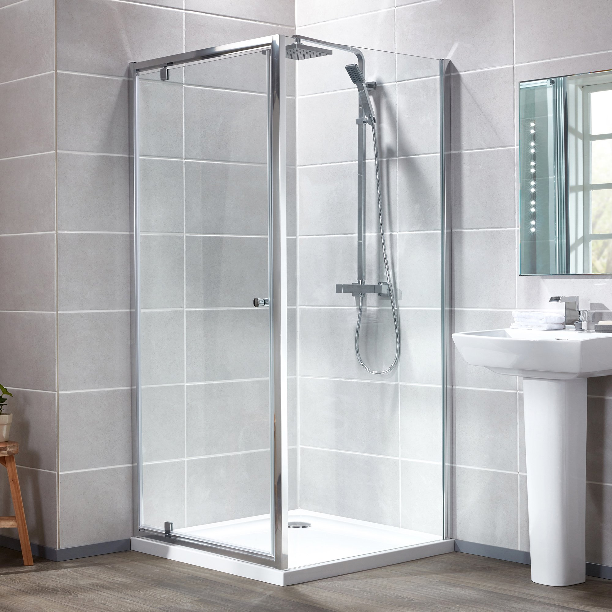Pivot Door & Shower Tray - Bathroom Cladding Direct