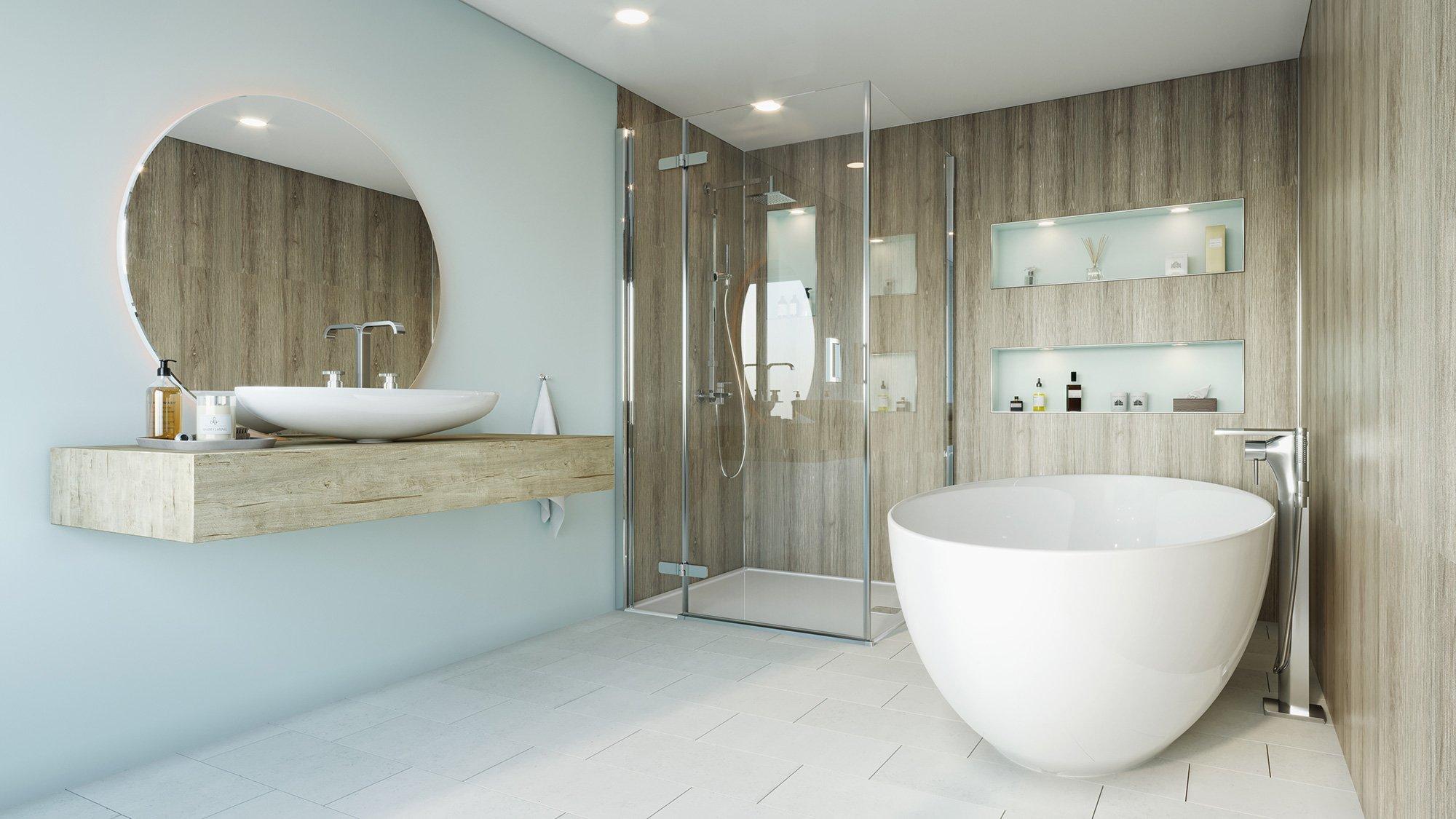 Delano Oak Bathroom Cladding Direct