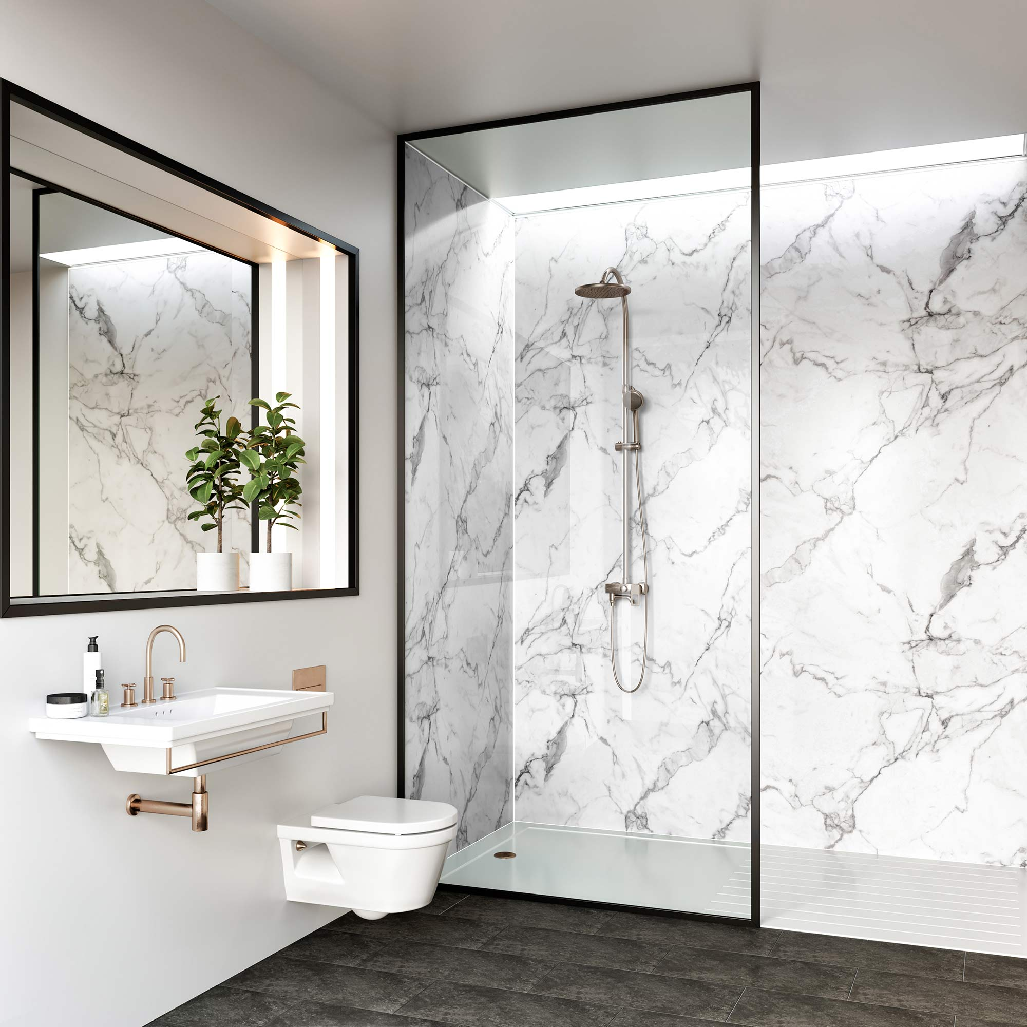 Calacatta Marble Bathroom Cladding Direct